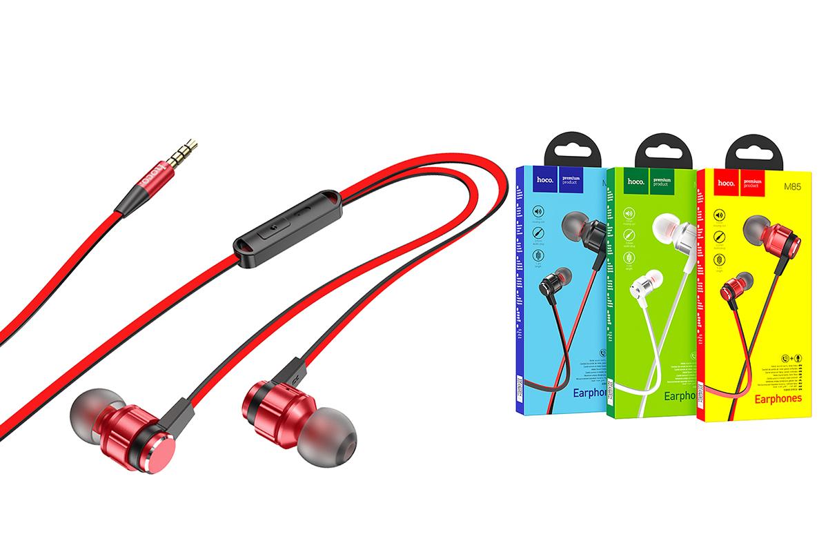 Наушники HOCO M85 Platinum sound universal earphones красная