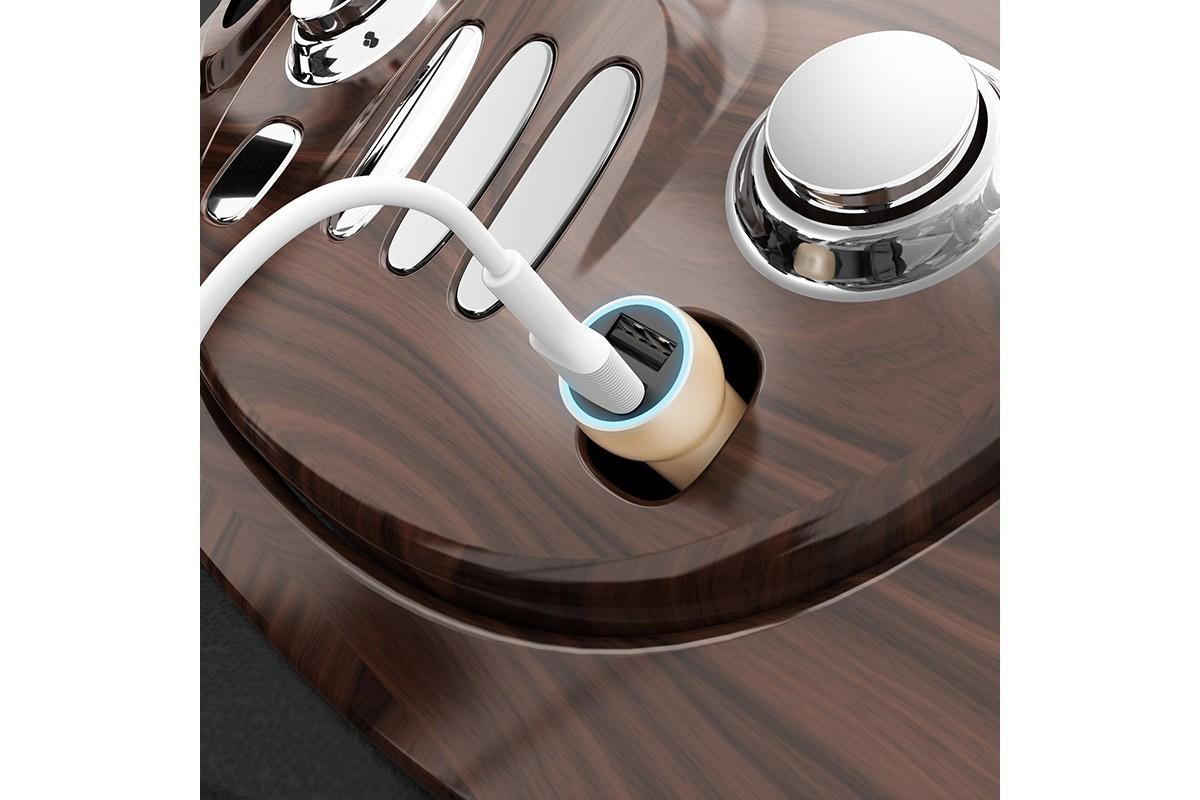 Автомобильное зарядное устройство 2USB BOROFONE BZ9 With route dual-port car charger 2400 mAh черный