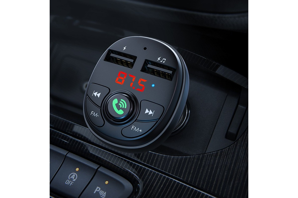 USB MP3 плеер +FM трансмиттер с диспл.BOROFONE BC26 In-car Wireless FM Transmitter