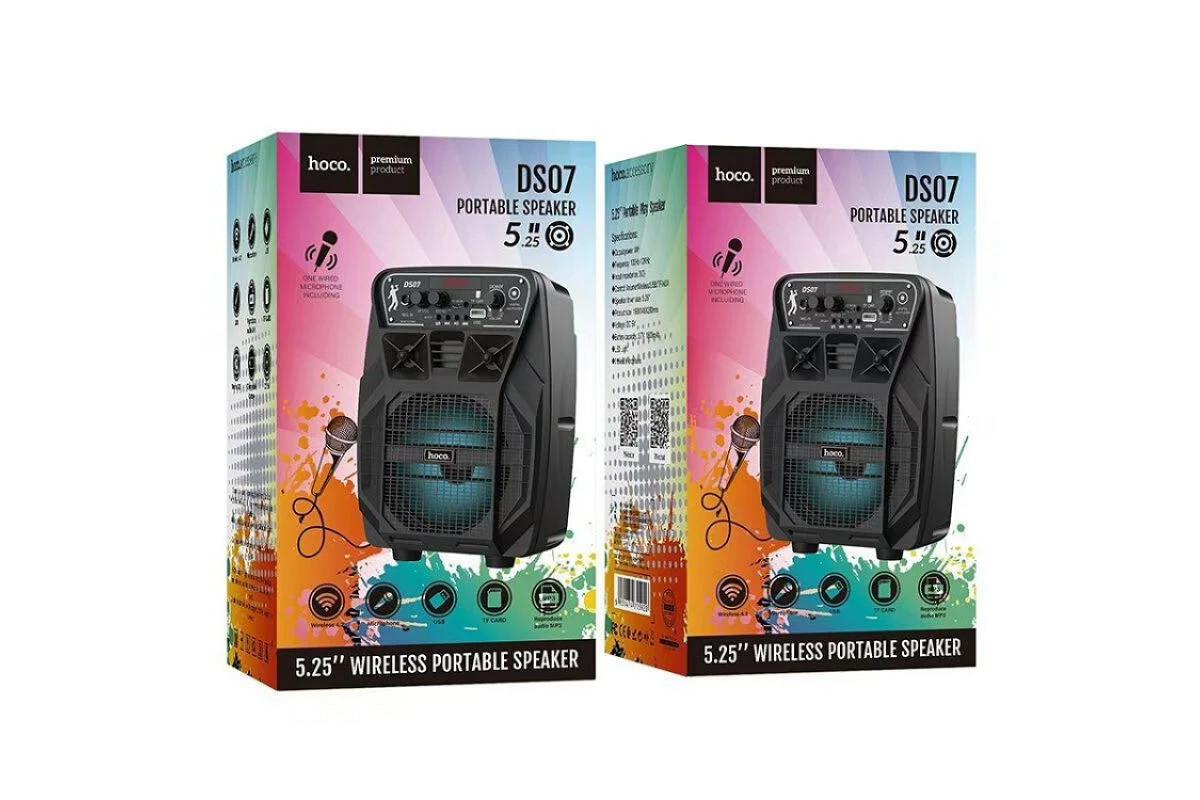 Портативная беспроводная акустика HOCO DS-7 wireless portable speaker цвет черный