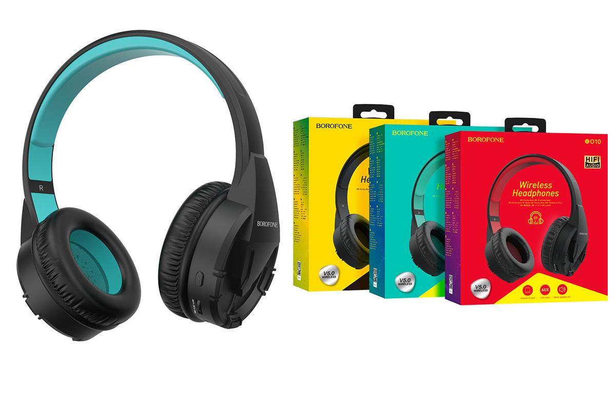 Беспроводные внешние наушники BO10 BOROFONE Precious wireless headset зеленый