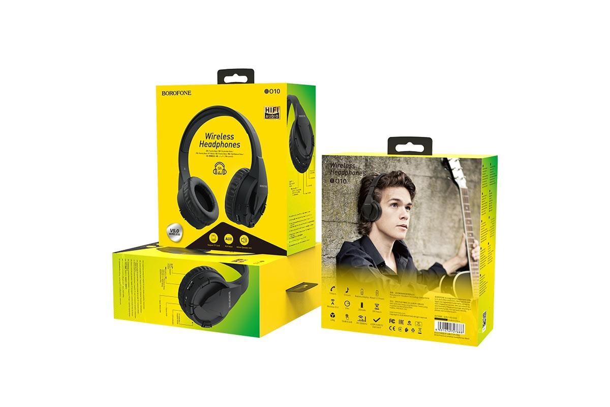 Беспроводные внешние наушники BO10 BOROFONE Precious wireless headset черный