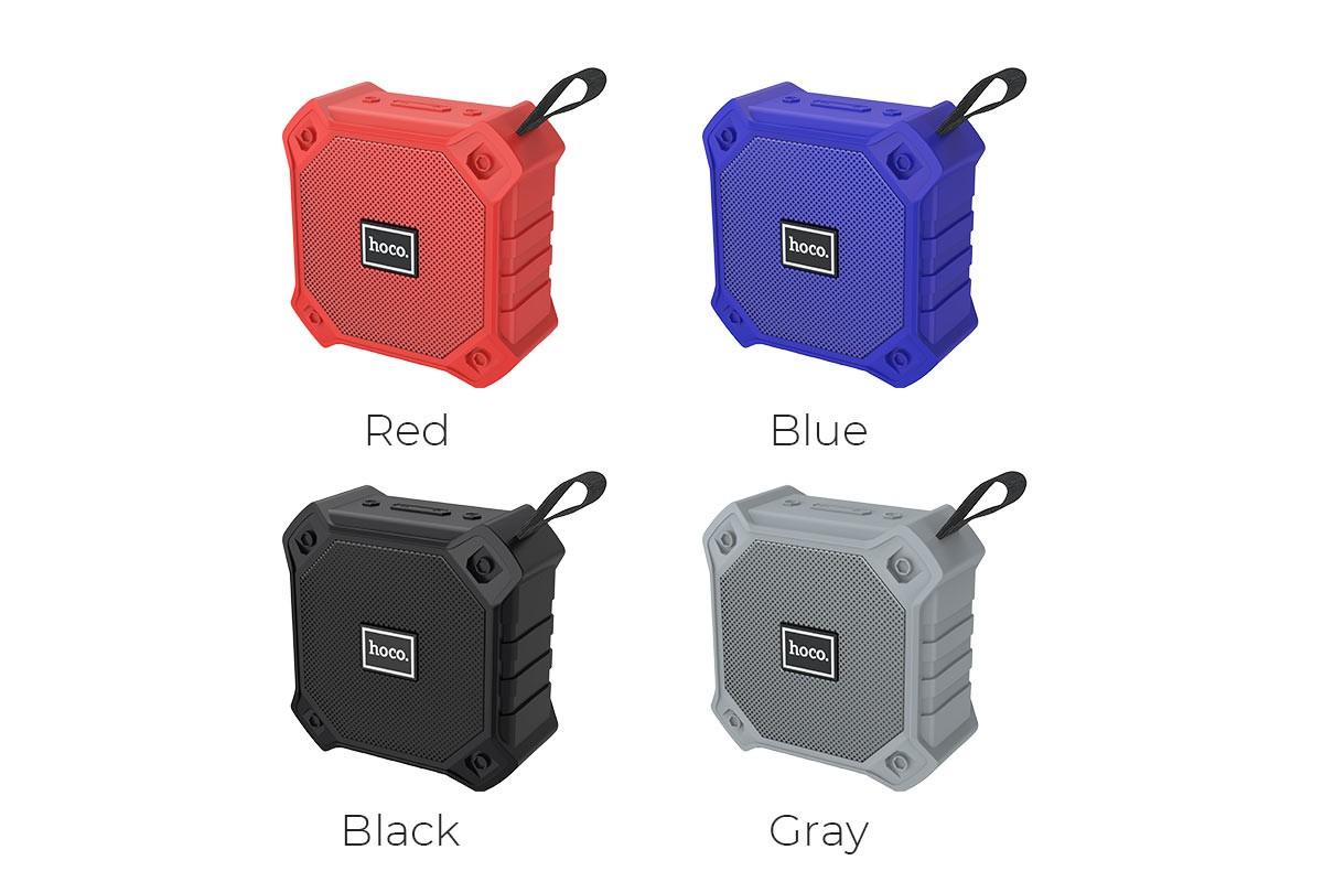 Портативная беспроводная акустика HOCO BS34 sports wireless speaker цвет красный
