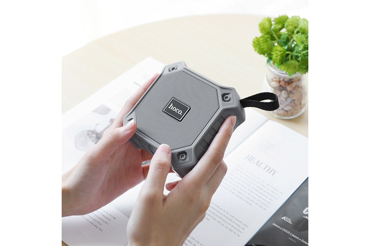 Портативная беспроводная акустика HOCO BS34 sports wireless speaker цвет серый