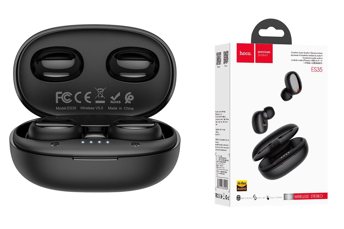 Bluetooth-гарнитура ES35 Breezy wireless headset HOCO черная