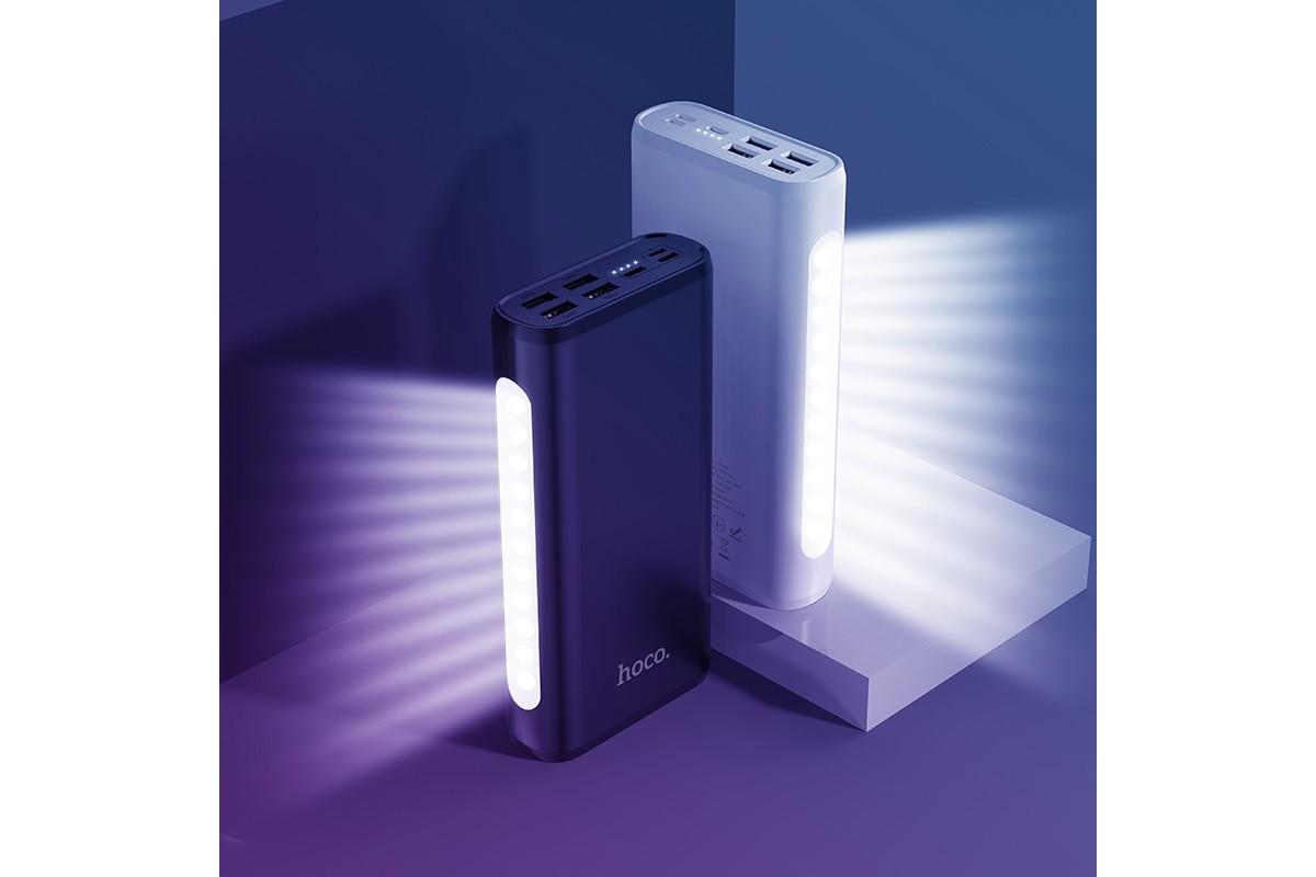 Универсальный дополнительный аккумулятор HOCO J60 Snowflake table lamp Bank 30000 mAh черный