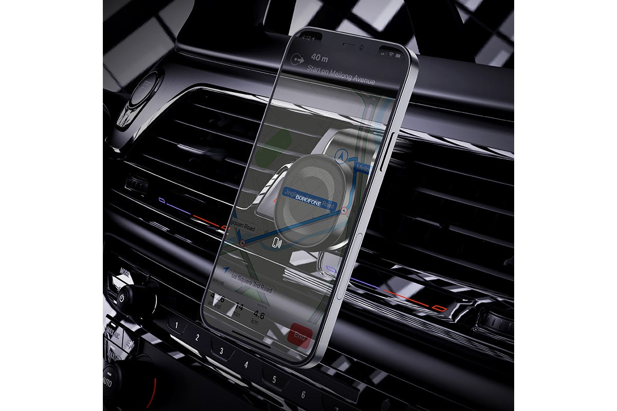 Держатель авто BOROFONE BH40 Kyle air outlet magnetic магнитный на панель черный