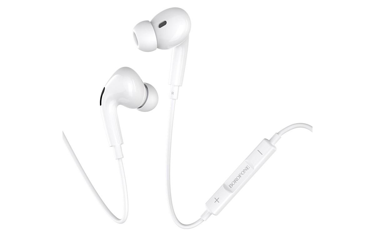 Наушники BOROFONE BM30 Pro Original series earphones Lightning белая (под оригинал)