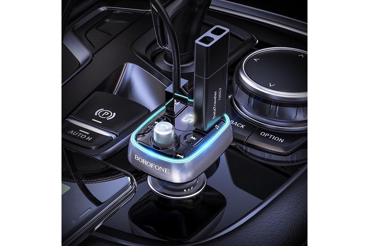 USB MP3 плеер +FM трансмиттер BOROFONE BC32 In-car Wireless FM Transmitter