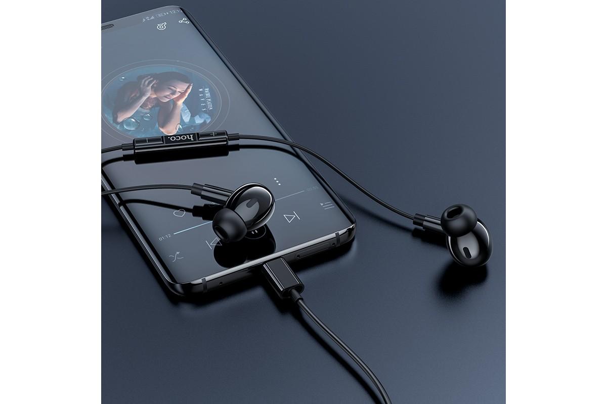 Наушники HOCO M83 Original series earphones черная ( разъем Type-C )
