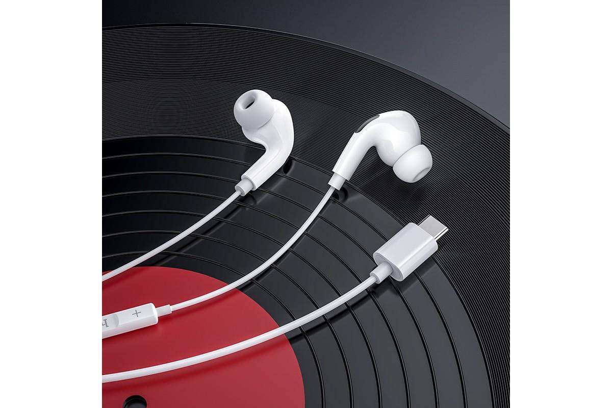 Наушники HOCO M83 Original series earphones белая ( разъем Type-C )