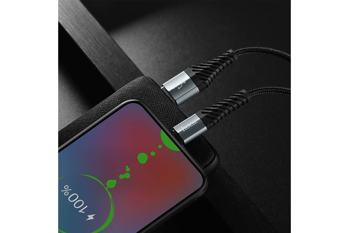 Кабель USB micro USB HOCO X38 Cool Charging data cable for Micro 1 метр черный
