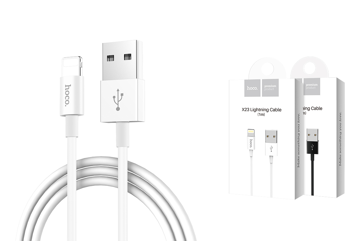 Кабель для iPhone X23 Skilled lightning charging data cable 1м белый