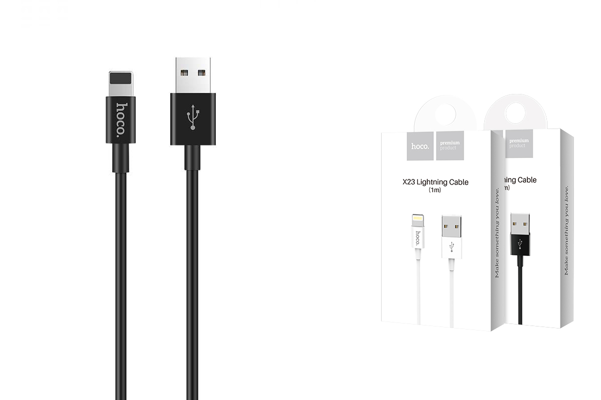 Кабель для iPhone X23 Skilled lightning charging data cable 1м черный