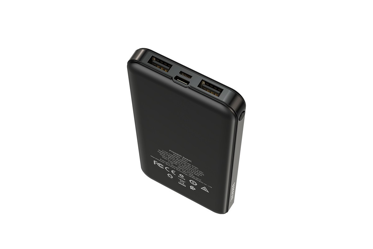 Универсальный дополнительный аккумулятор BOROFONE BT27 Sea  power bank 10000 mAh черный