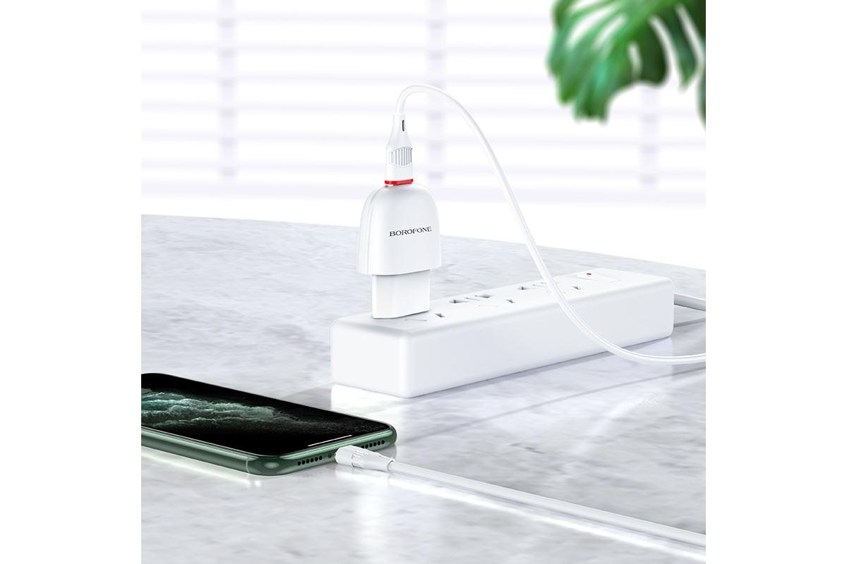 Сетевое зарядное устройство USB 2100mAh  BOROFONE BA49A Vast power single port charger белый