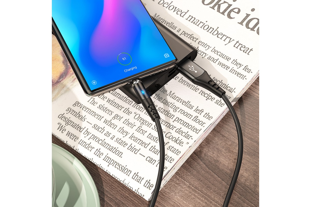 Кабель USB HOCO X60 Honorific silicone magnetic charging cable for Type-C