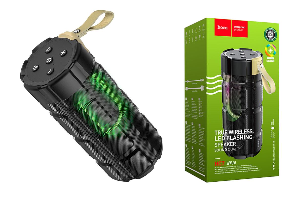 Портативная беспроводная акустика HOCO HC7 Pleasant sports BT speaker цвет черный