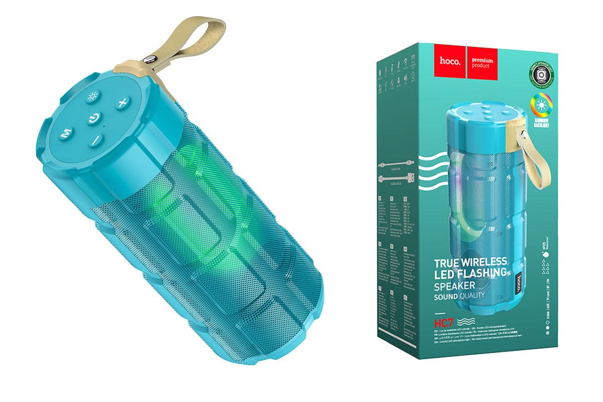 Портативная беспроводная акустика HOCO HC7 Pleasant sports BT speaker цвет зеленый