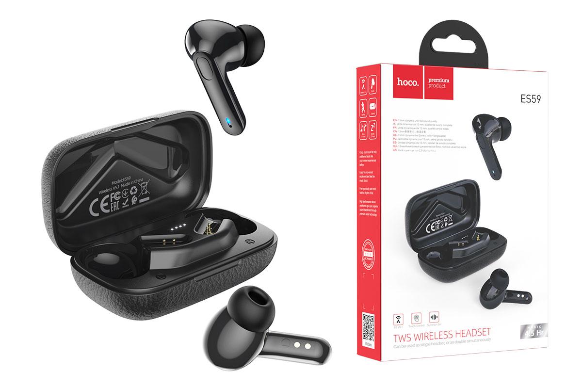 Беспроводные наушники ES59  Gratified wireless BT headset HOCO черная