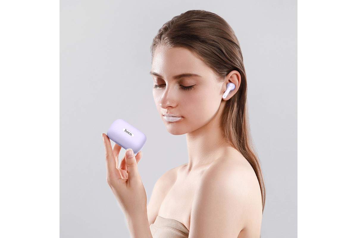 Беспроводные наушники ES59  Gratified wireless BT headset HOCO фиолетовый