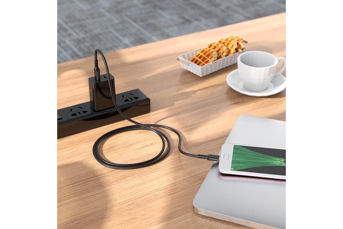 Кабель USB HOCO X62 MicroUSB (черный) 1 метр