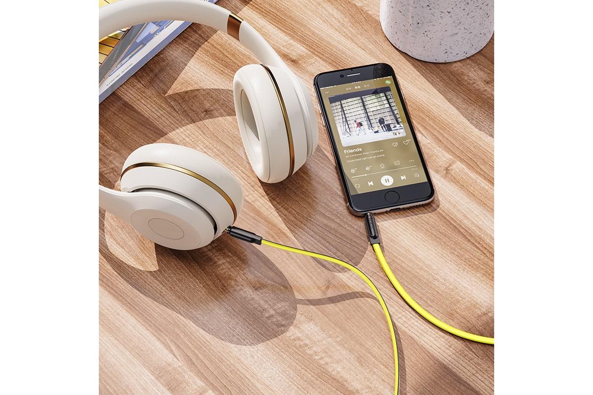 Кабель удлинитель HOCO UPA16 AUX audio cable 3.5 1 метр желтый