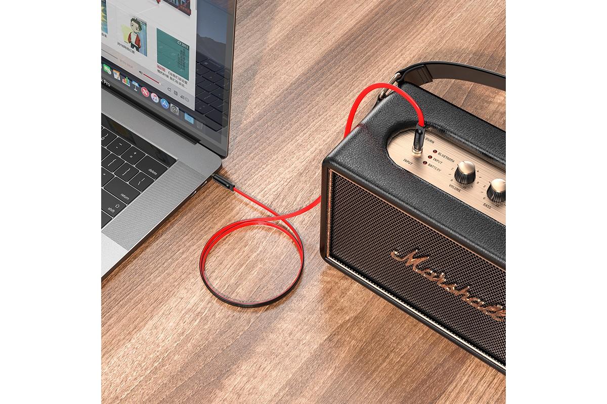 Кабель удлинитель HOCO UPA16 AUX audio cable 3.5 1 метр красный