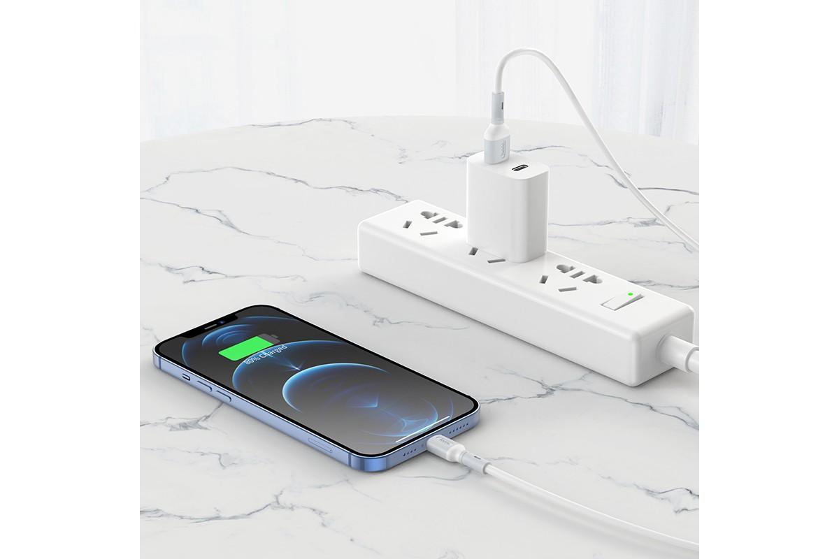 Кабель для iPhone HOCO X65 Lightning (синий) 1 метр