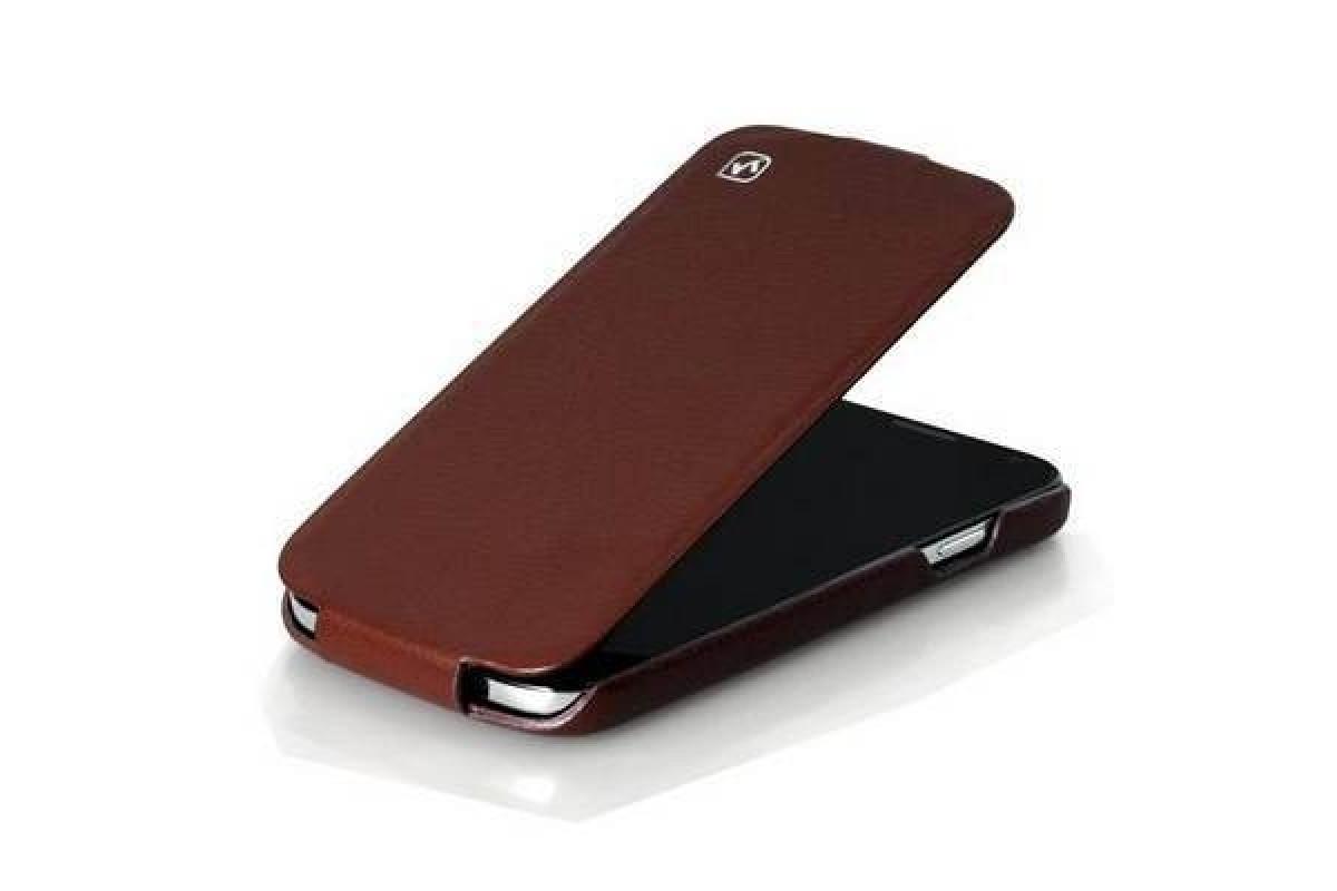 Чехол-книжка Samsung i9500 Galaxy S4 HOCO Duke Leather Case (коричневый)