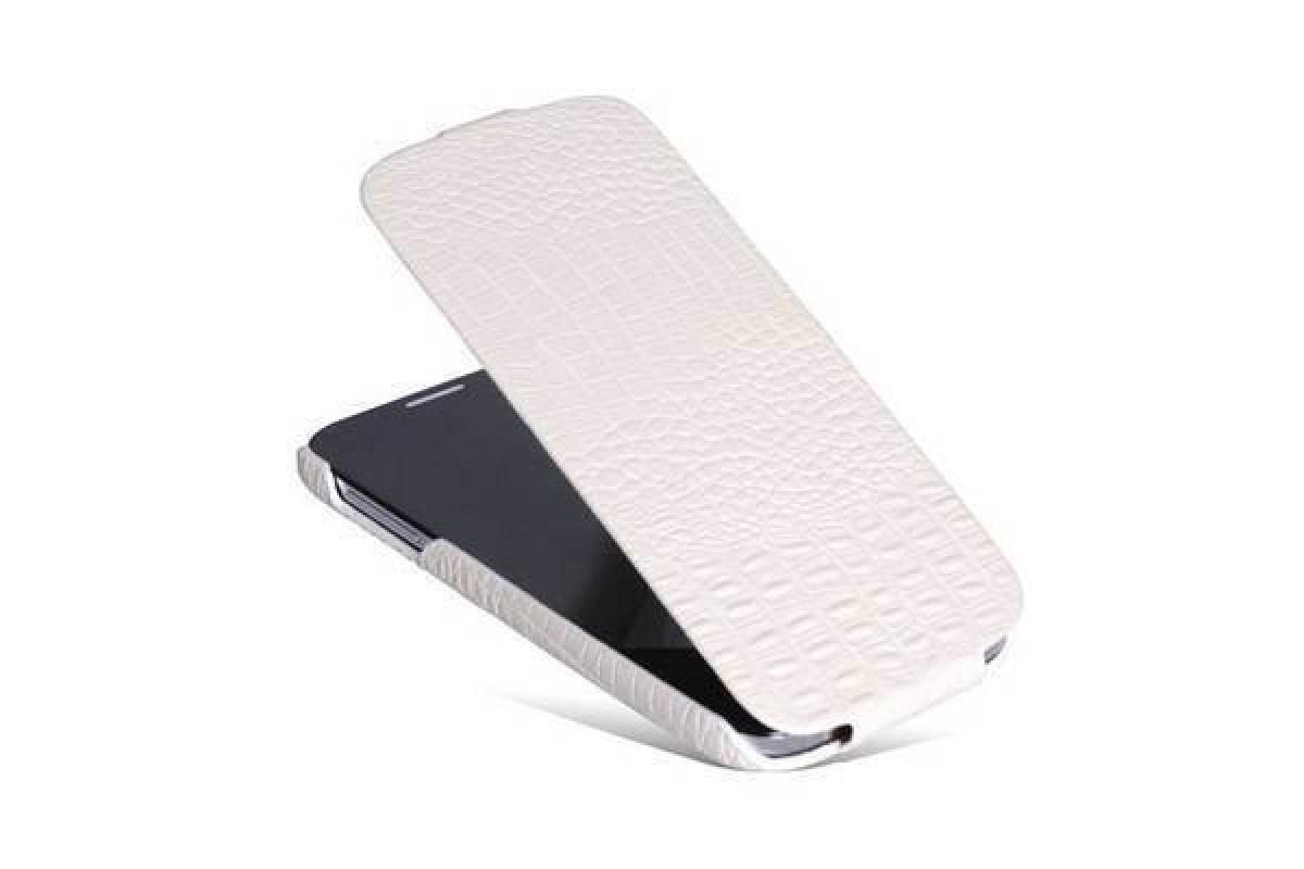 Чехол-книжка Samsung i9500 Galaxy S4 Borofone Matt Crocodile Leather бел