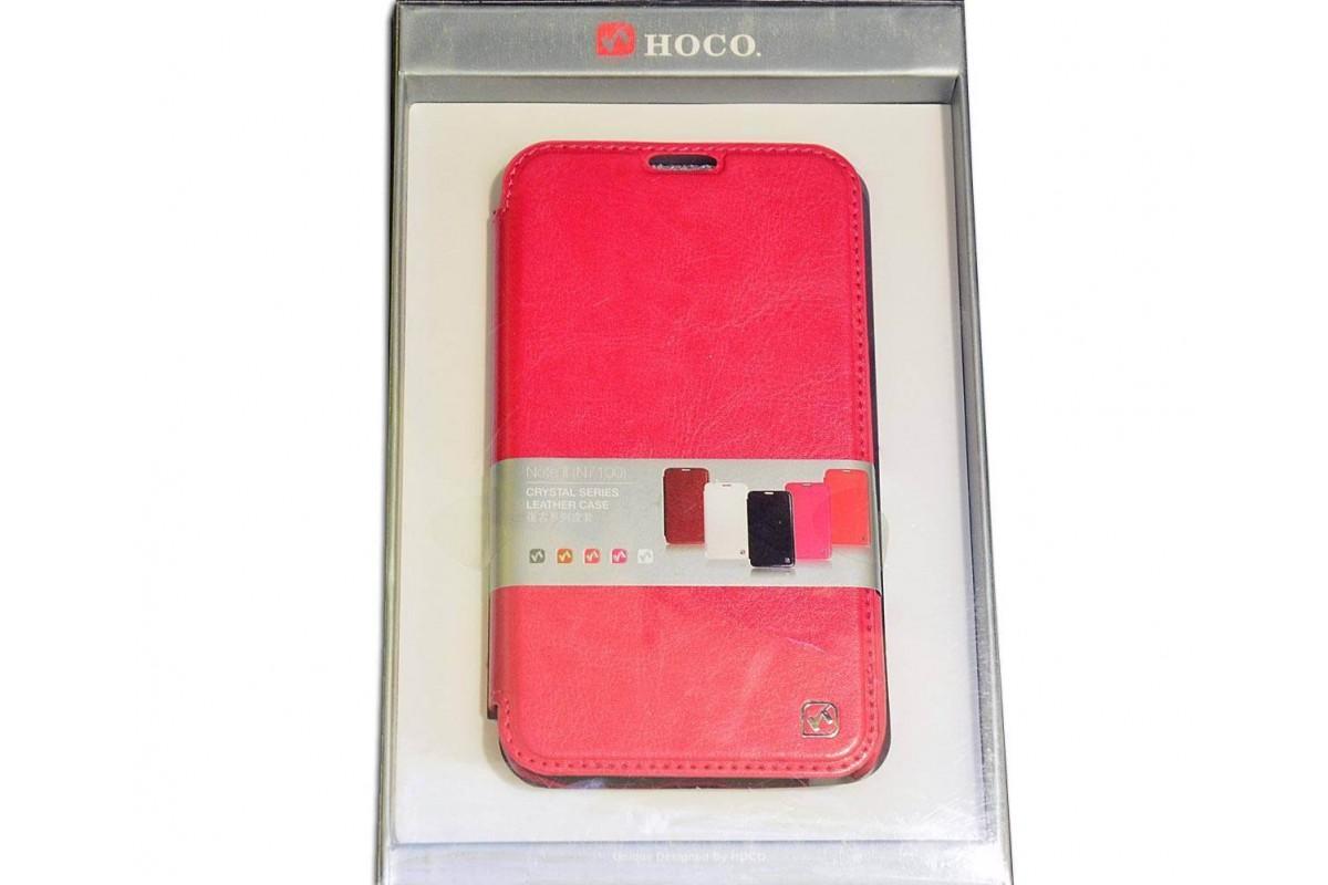 Чехол книжка Samsung Galaxy Note 2 N7100 Crystal Leather Case (розовый) HOCO