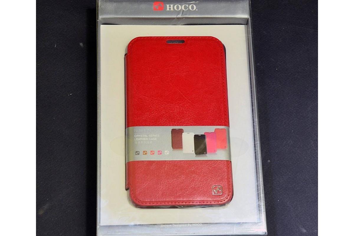 Чехол-книжка Samsung Galaxy Note 2 N7100 Crystal Leather Case (красный) HOCO