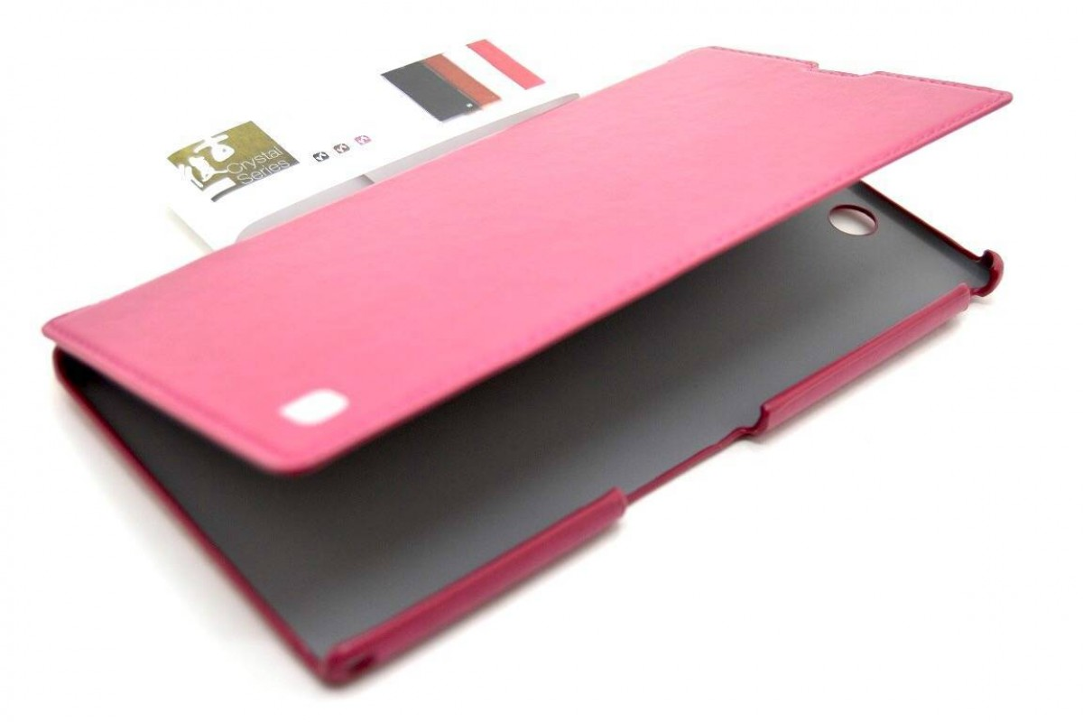 Чехол-книжка Sony Xperia Z Ultra  (XL 39h) Leather Case (т.розовый) HOCO
