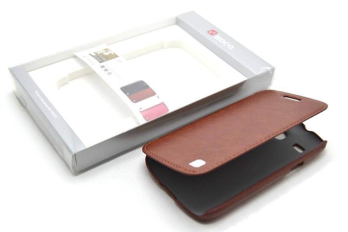 Чехол-книжка Samsung i8260\8262 Galaxy Core Crystal Leather Case (коричн) HOCO