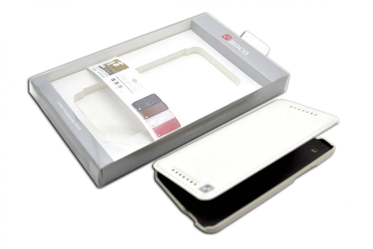 Чехол книжка HTC One Mini Crystal Leather Case (белый) HOCO