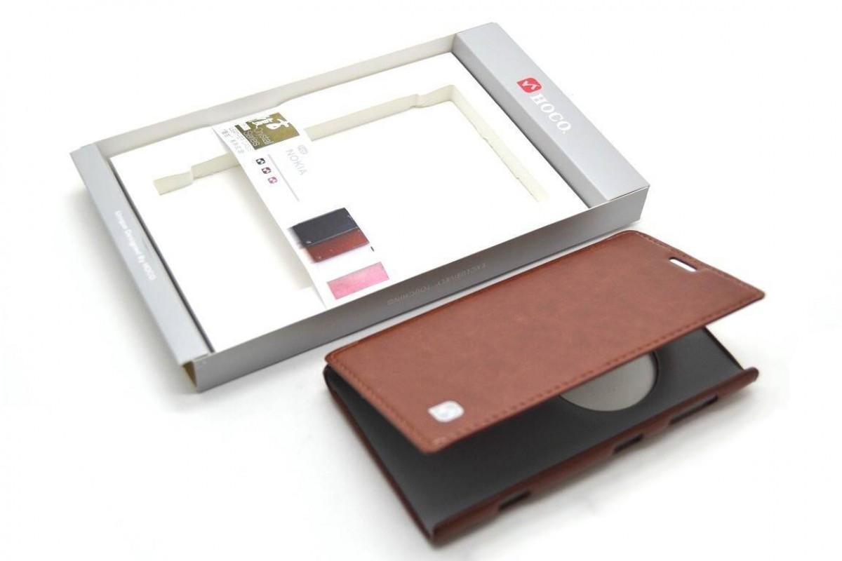 Чехол книжка Nokia 1020  Crystal Leather Case (коричневый) HOCO