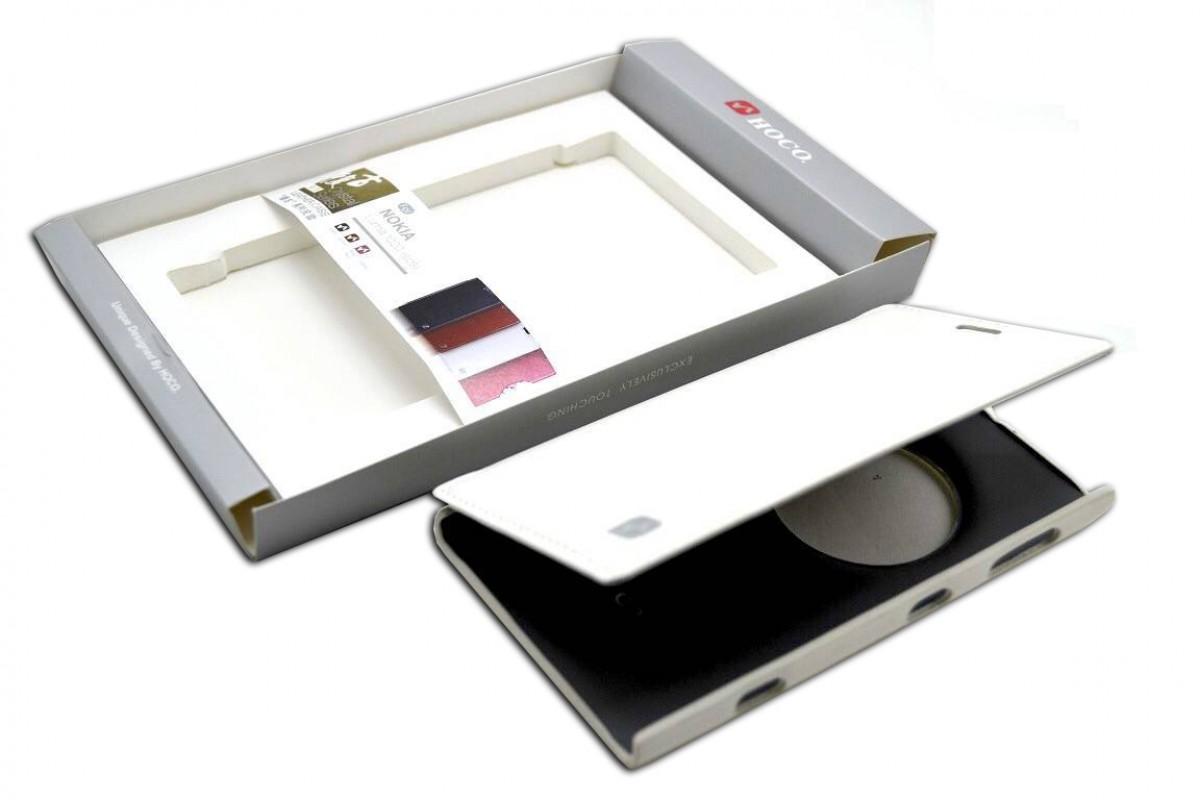 Чехол книжка Nokia 1020  Crystal Leather Case (белый) HOCO