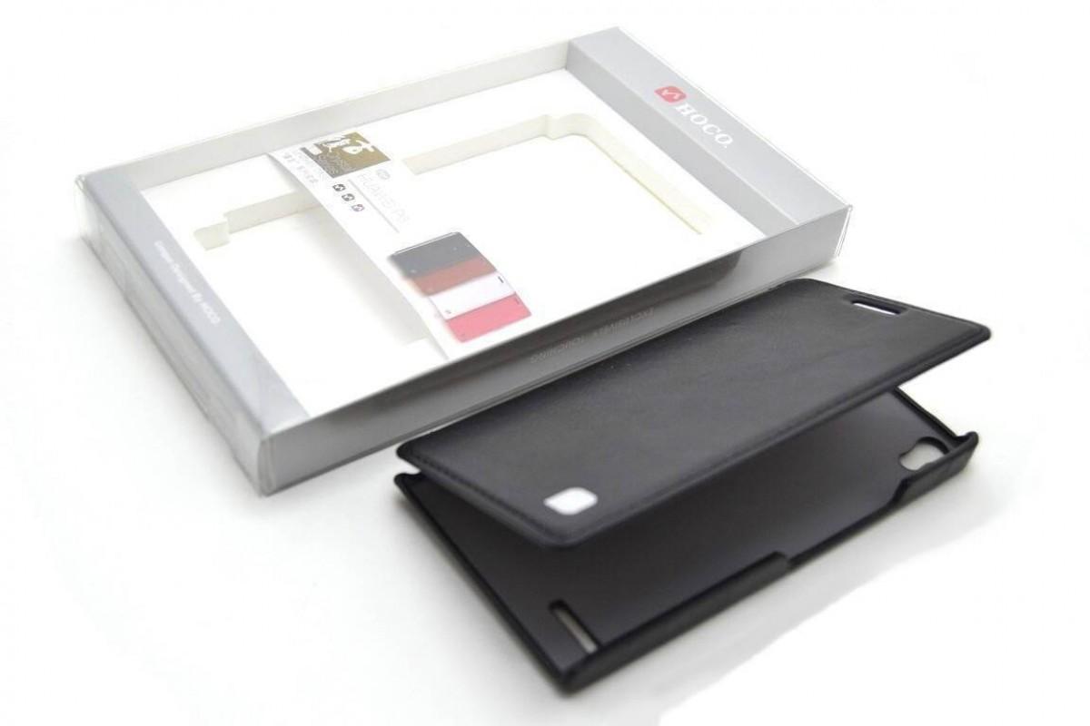Чехол книжка Huawei Ascend P6 Crystal Leather Case (черный) HOCO
