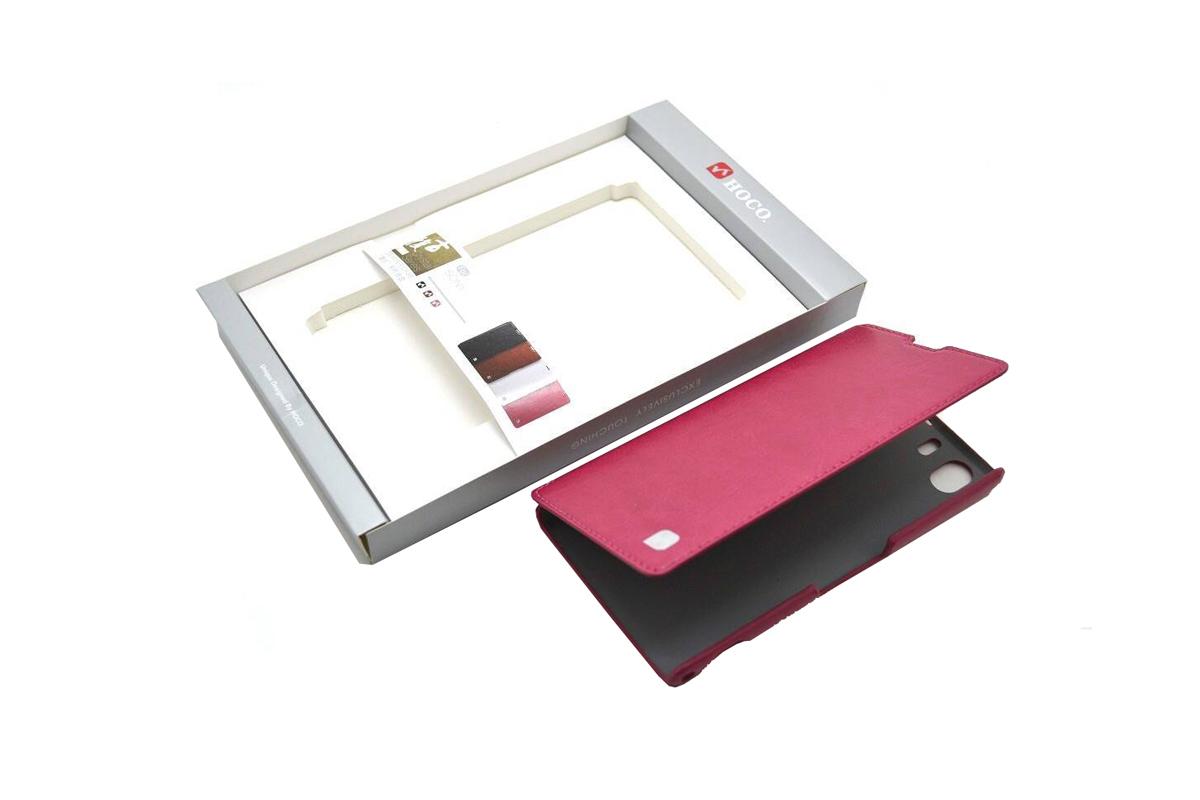 Чехол-книжка Sony Xperia Z1 Crystal Leather Case (розовый) HOCO