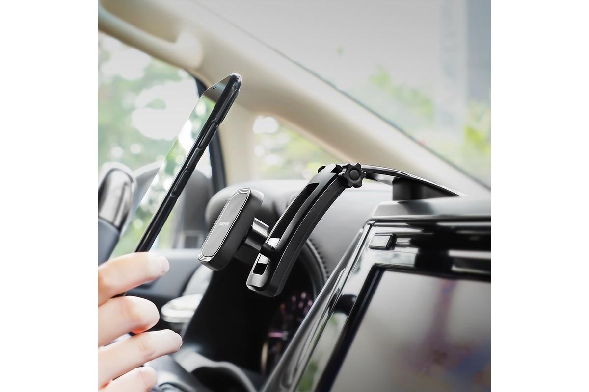 Держатель авто BOROFONE BH17 магнитный с креплением на стекло цвет черный