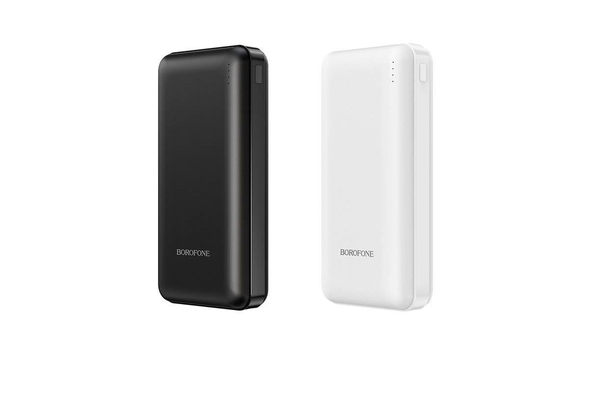 Универсальный дополнительный аккумулятор BOROFONE BT26A PD+ QC 3.0 mobile power bank 20000 mAh белый