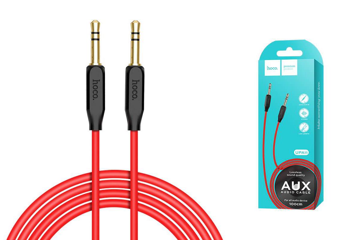 Кабель удлинитель HOCO UPA11 AUX Audio cable 3.5 1 метр черный