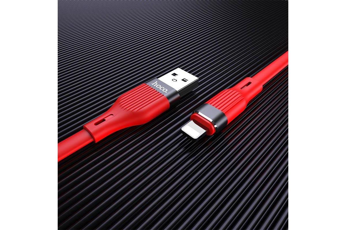 Кабель для iPhone HOCO U72 Forest Silicone charging cable for Lightning 1м красный