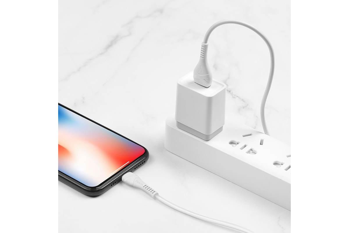 Кабель для iPhone HOCO X37 Cool power charging data cable for Lightning 1м белый