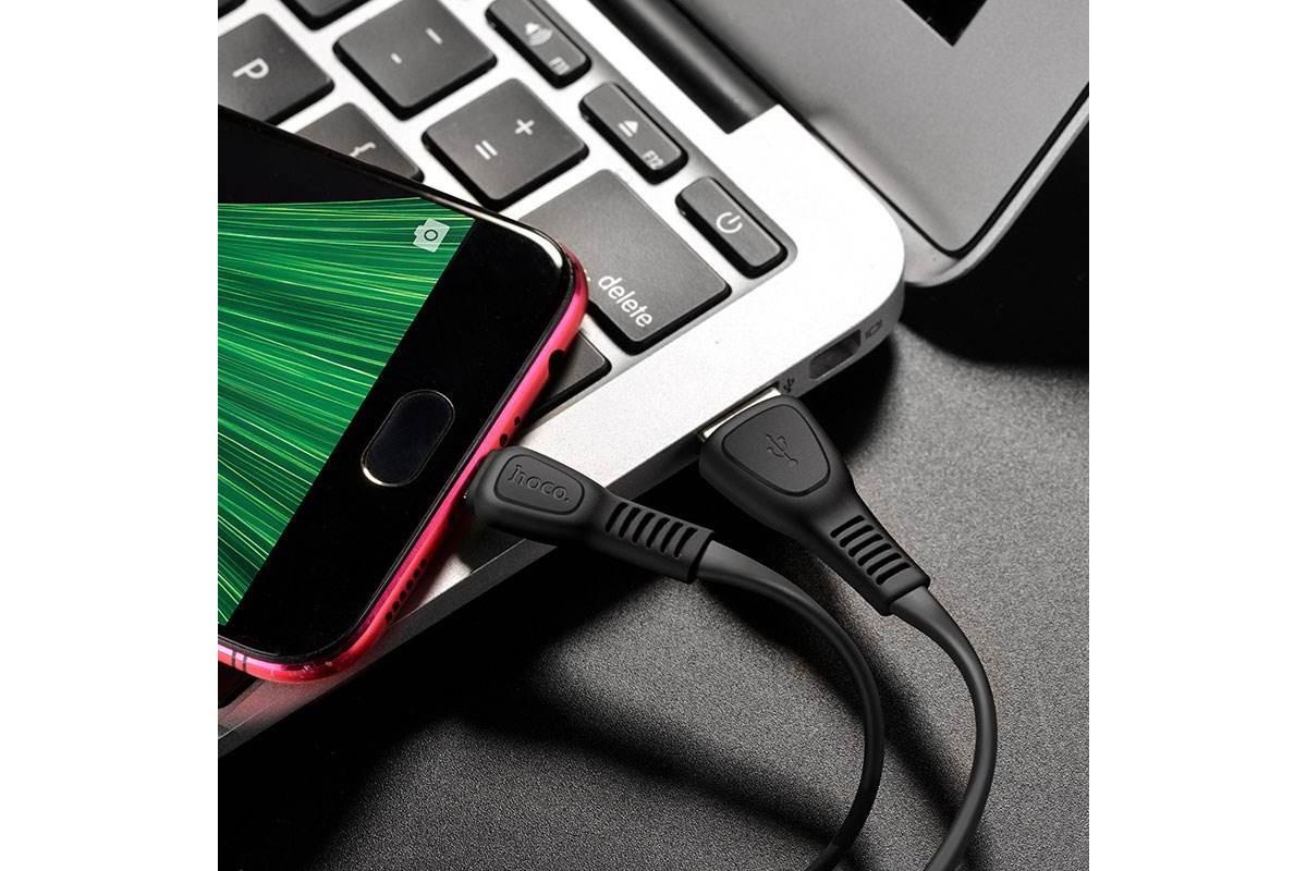 Кабель USB micro USB HOCO X40 Noah charging data cable  1 метр черный