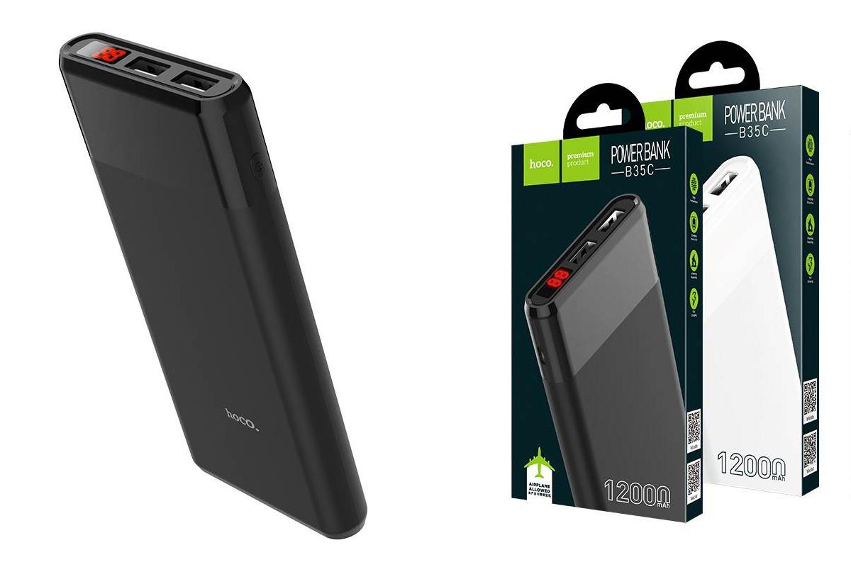 Универсальный дополнительный аккумулятор HOCO B35C 12000 mAh Entourage mobile power bank черный