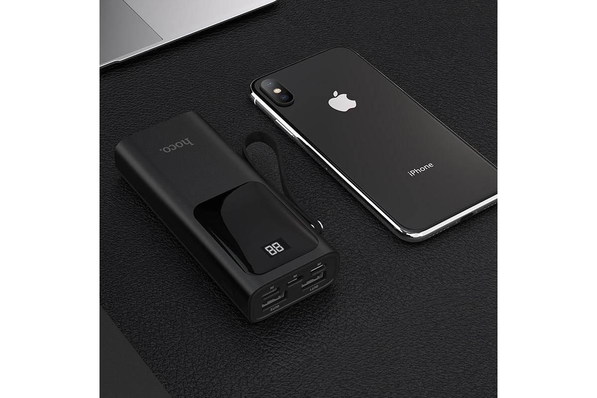Универсальный дополнительный аккумулятор HOCO  J41 Treasure mobile power bank 10000 mAh черный