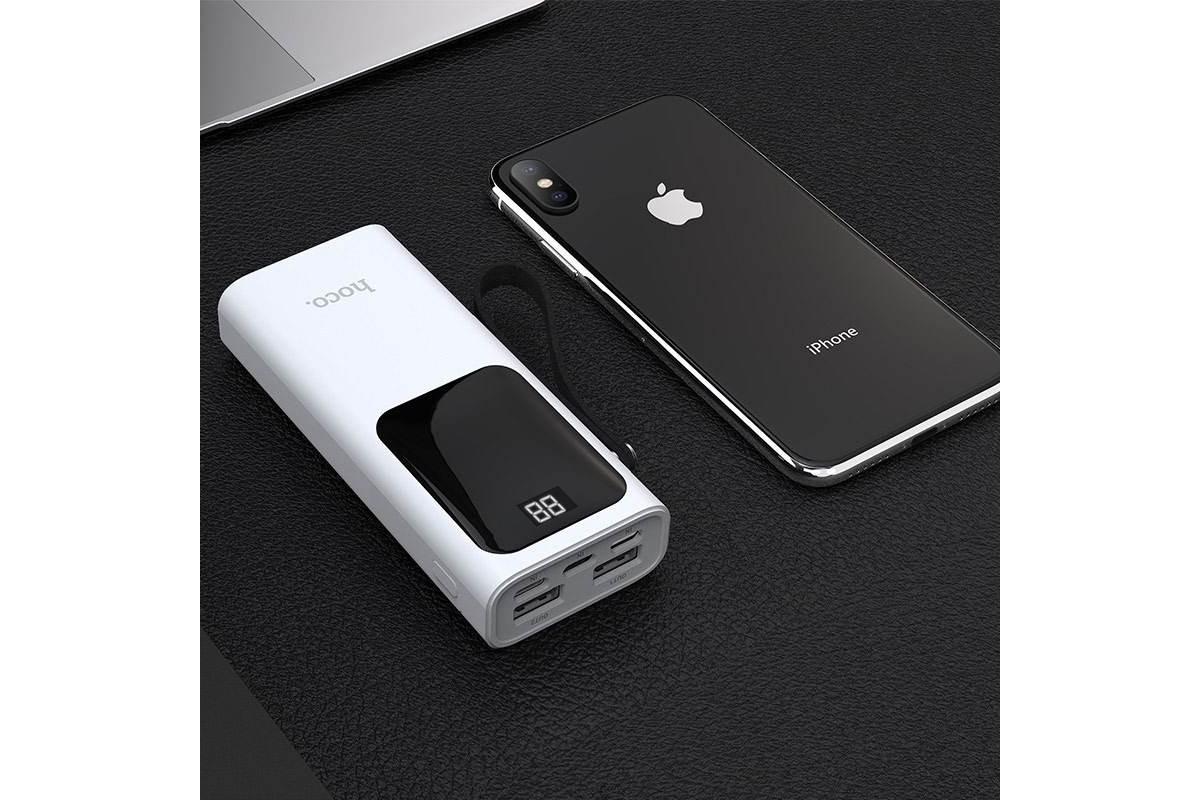 Универсальный дополнительный аккумулятор HOCO  J41 Treasure mobile power bank 10000 mAh белый