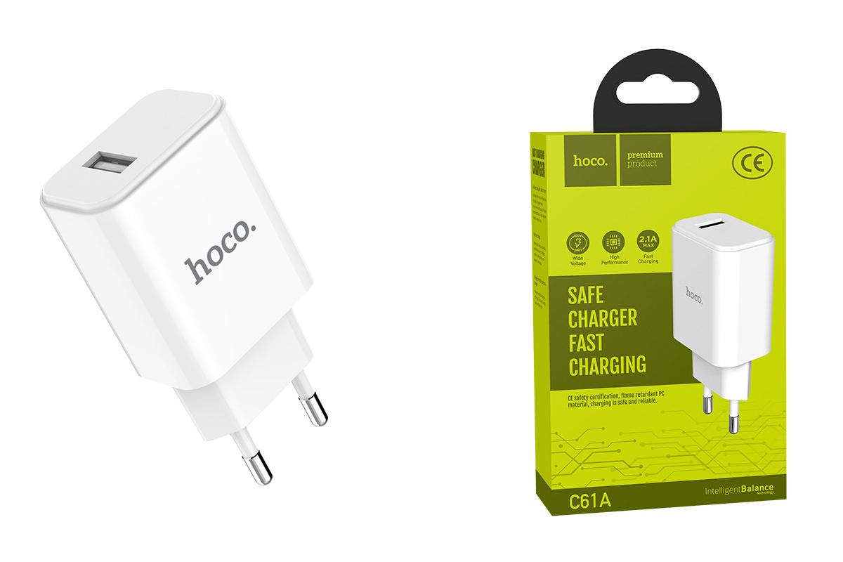 Сетевое зарядное устройство 2 USB 3400mAh  HOCO C61A  port charger белый